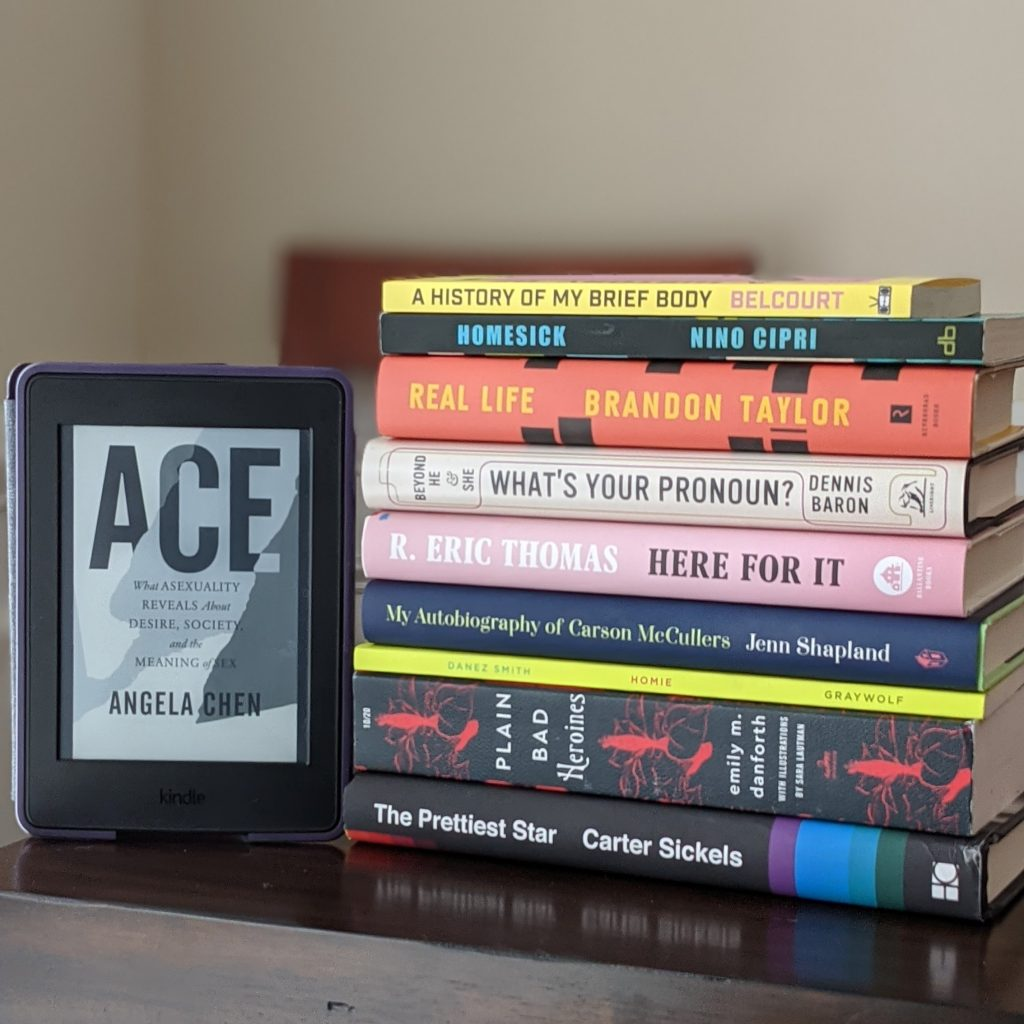 Image of the top ten books of the Over the Rainbow book list